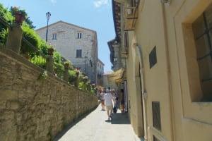 San Marino narrow streets