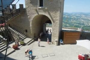 San Marino stone wall