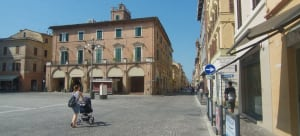 Exploring the city Jesi and Marche region