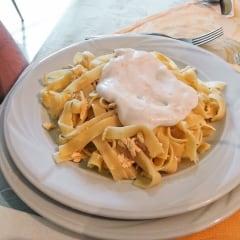 Restaurant vegan Cris pasta carbonara