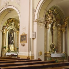 Oradea church Holy Spirit interior paintings