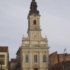 Oradea church moon full