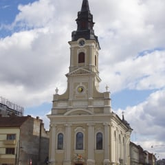 Oradea church moon half full