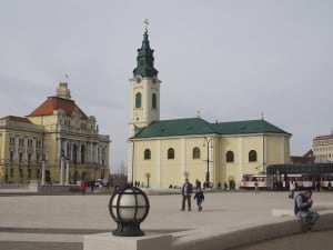Oradea church Holy Ladislau & Town Hall