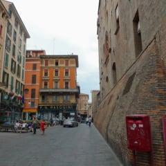 Bologna street city centre