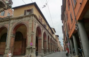 Bologna street Via Zamboni