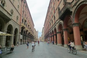 Bologna Via dell Indipendenza pedestrian zone