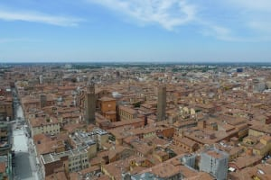 Bologna view Asinelli tower
