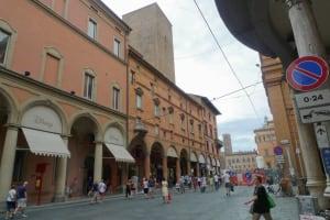 Bologna view Maggiore square