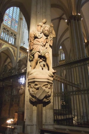 Cologne Cathedral male statue