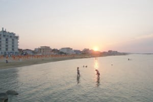 Viserbella beach sunset